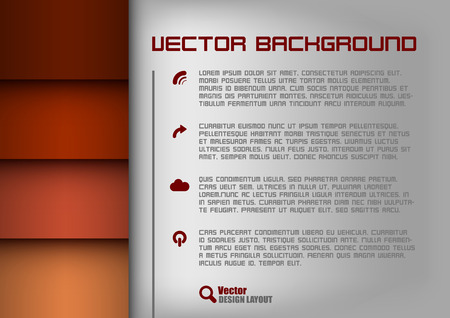 Red design layout. Gray background with blue stripes. Vector elements. Vector
