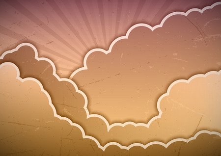 Sweet clouds as abstract background. Vector design elements. Vector