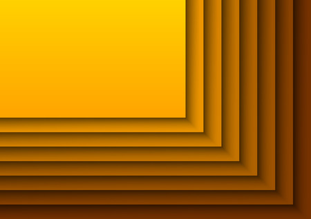 Orange background as many layers. Vector design. Vector