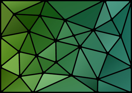 vitrage: Triangles background with black stroke. Vector abstract pattern. Illustration