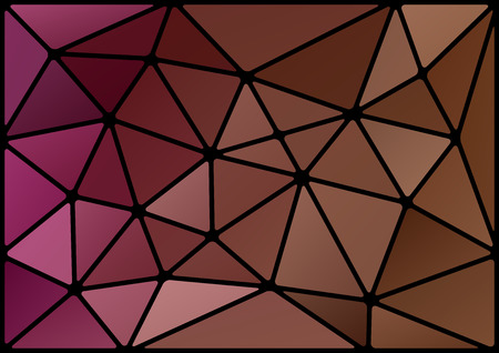 Triangles background with black stroke.  Vector