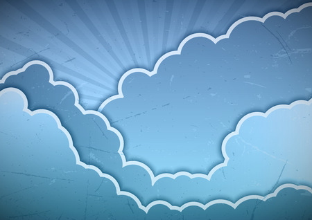 Blue clouds as abstract background Vector