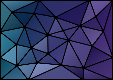 Triangles background with black stroke Vector