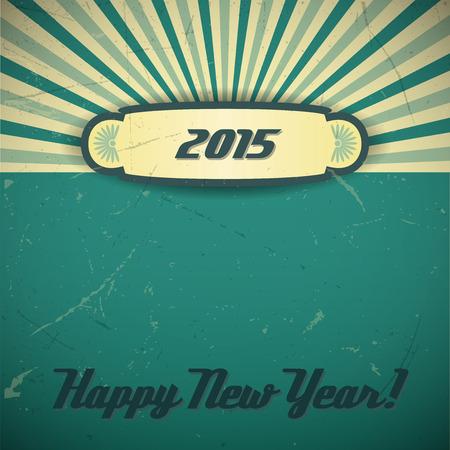 fin de a�o: Fondo retro con la v�spera de A�o Nuevo dise�o 2015.