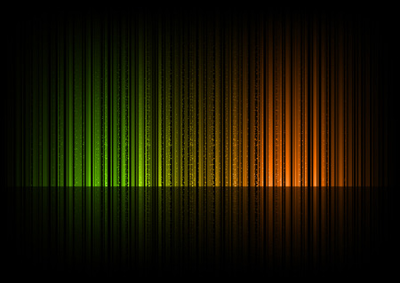 color spectrum: Black template with green and orange lines in middle of the page