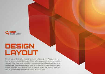 red shape: Red design Cubes as abstract layout background.