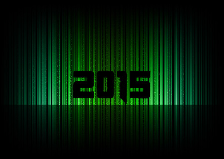 numbers abstract: New year 2015 Abstract background with numbers