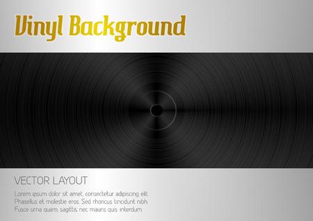 vinyl disk player: Vinyl background on Black texture