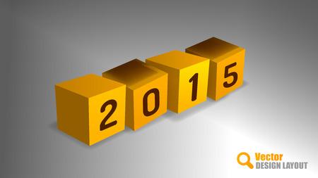 playfull: Four cubes as 2015 symbol