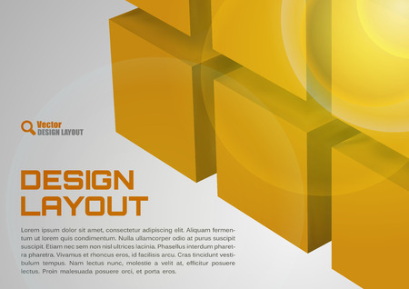title page: Orange design Cubes as abstract layout