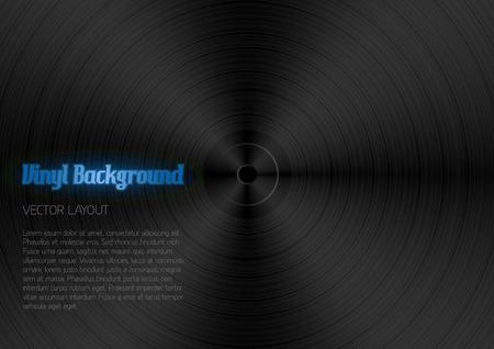 vinyl disk player: Black texture as vinyl desk Illustration