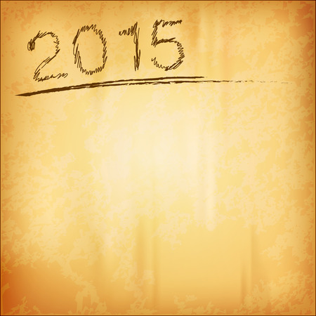 old background: New year 2015 as old background. Vector design elements.