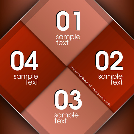 vector sample: Modern business layout. Red vector template with sample text. Illustration