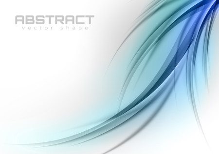 Abstract shapes in the blue colors. Vector design elements. Vector