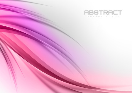 Abstract shapes in the sweet colors. Vector design elements. Illustration