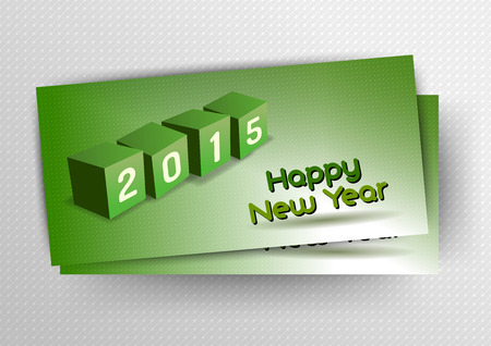 playfull: Four cubes as 2015 playful symbols. Vector design elements. New year card.