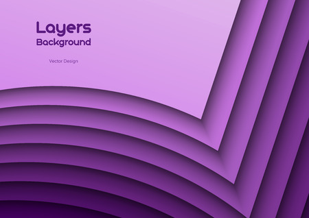 Purple background as many wavy layers. Vector design.