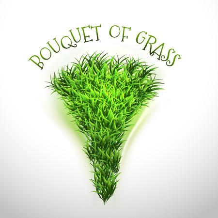 grass vector: Green bouquet of grass. Vector elements.