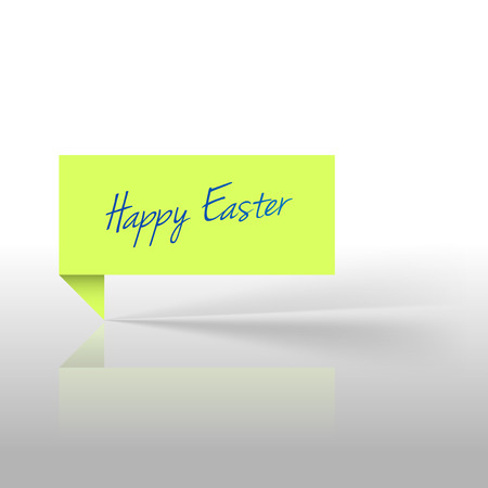 Green sticker with text Happy Easter Vector