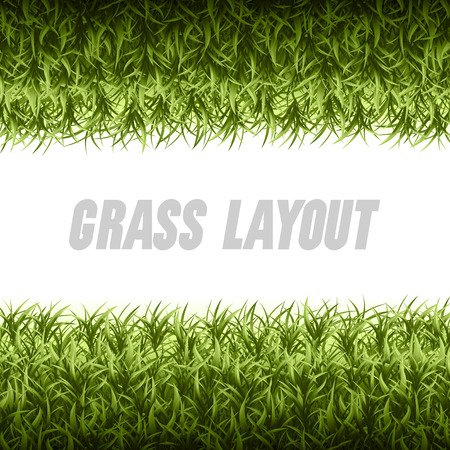 page layout: Spring green grass as vector layout page.