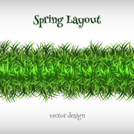 web2: Spring grass as vector background. Illustration