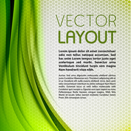 green background: Abstract green background with grey hexagon. Vector design.