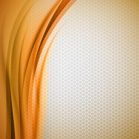 fond abstrait orange: R�sum� fond orange avec hexagone gris. Vector design. Illustration