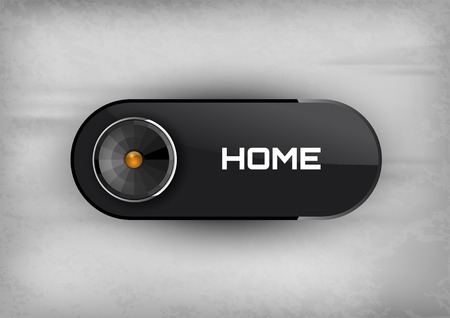 home button: Home button on the black background. Elegant design. Illustration