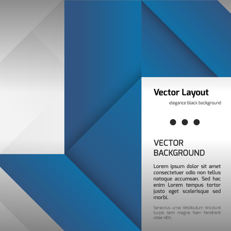 folded paper: Blue folded paper as page layout or design elements. Illustration