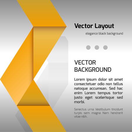 folded paper: Orange folded paper as page layout or design elements. Illustration
