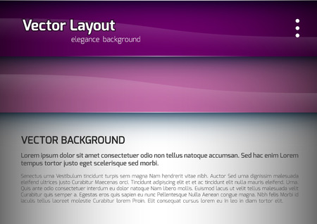 horizontal banner: Purple stripes and gray space as modern layout. Vector design.