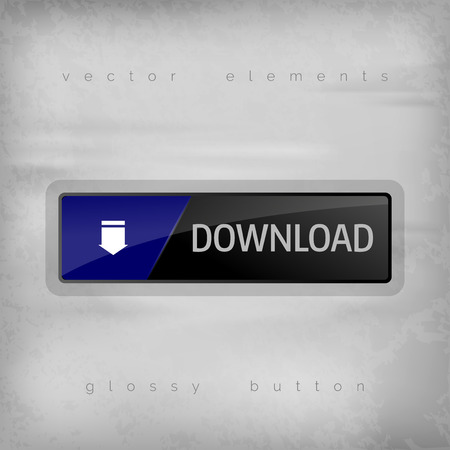download button: Download button on the gray background. Elegant design. Illustration