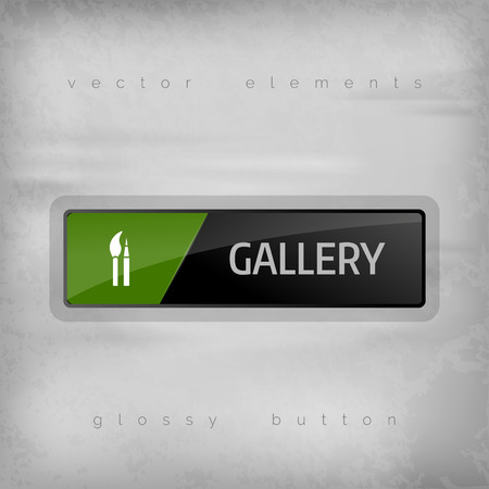 internet button: Gallery button. Vector design element.