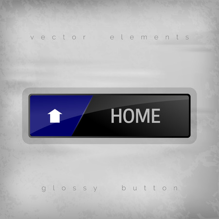 home button: Home button on the gray background. Elegant design.