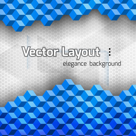 vetor: Blue squares as abstract layout. Vetor background.
