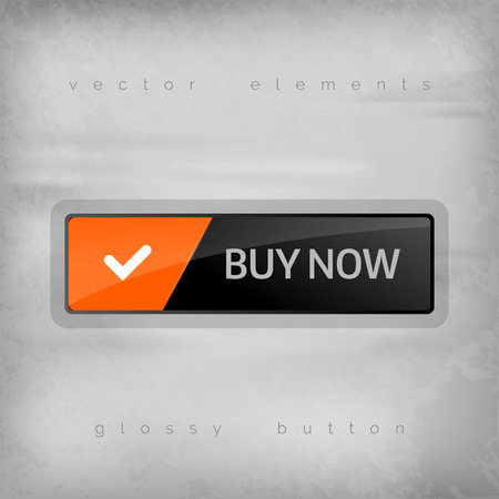 chrome cart: Modern buttons BUY NOW with color space for icons. Vector design elements. Illustration
