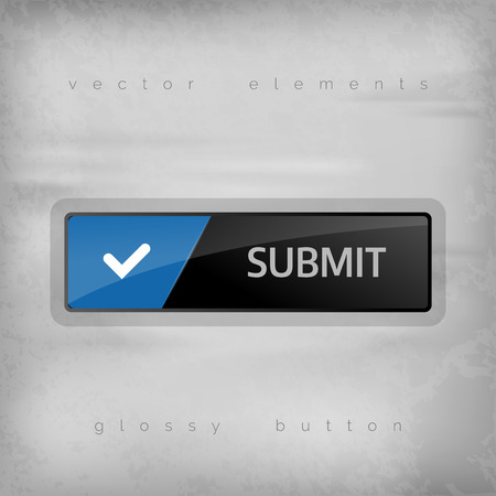 administer: Modern buttons SUBMIT with color space for icons. Vector design elements. Illustration
