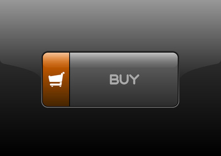 chrome cart: Simple buttons BUY with color space for icons. Vector design elements. Illustration