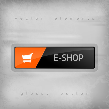eshop: Modern buttons E-SHOP with color space for icons. Vector design elements.
