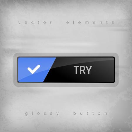 essayer: Touches modernes essayer avec espace de couleur pour les ic�nes. Vector design elements.