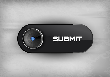 Futuristic buttons SUBMIT with diod. Vector icons.
