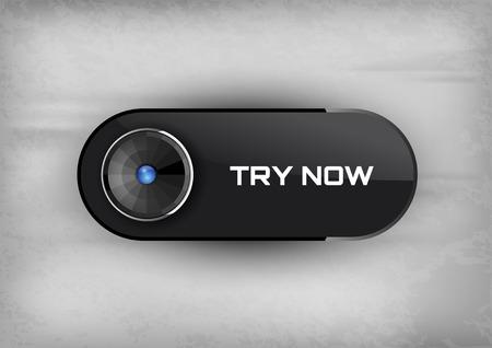 essayer: Touches futuristes essayez avec diod. ic�nes vectorielles.