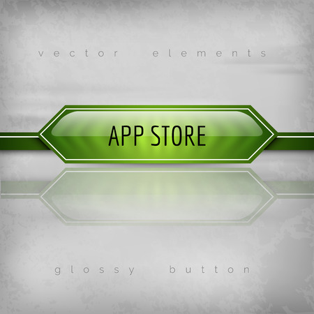 app store: App Store buttons as. Vector plastic icons.