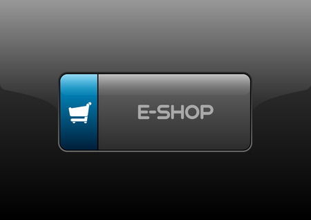 eshop: Simple buttons E-SHOP with color space for icons. Vector design elements.