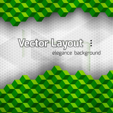 vetor: Green squares as abstract layout. Vetor background. Illustration