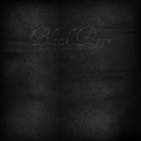 matter: Black paper. Vector texture of old scratched matter.