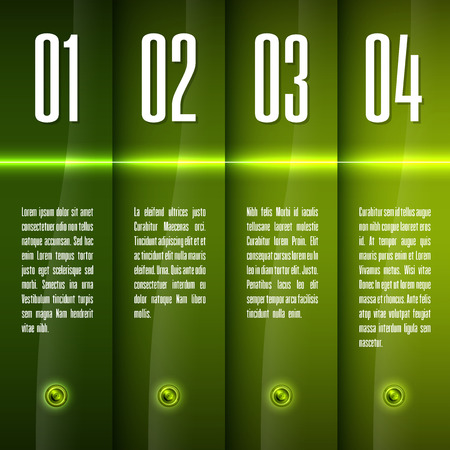 Glossy banners with glowing stripes. Modern vector layout. Fresh graphic elements. Illustration
