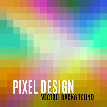 pixelate: Pixel design. Abstract vector background with crazy pastel colors.