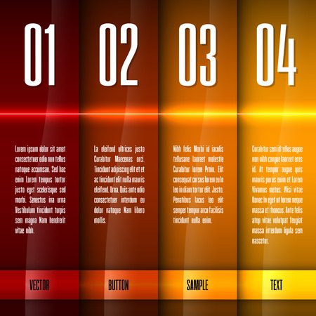 Glossy banners with glowing stripes. Modern layout. Hot graphic elements.