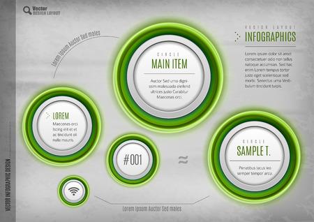 the layout: Modern circles layout